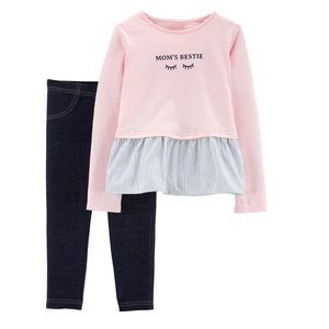 """Carter's """"MOM'S BESTIE"""" outfit"""